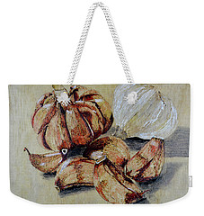 Red And White Garlic Weekender Tote Bag