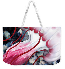 Red And White Jellyfish  Weekender Tote Bag