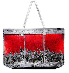 Red And White Window # 1 Weekender Tote Bag