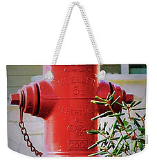 Red And Yellow Hydrant Weekender Tote Bag