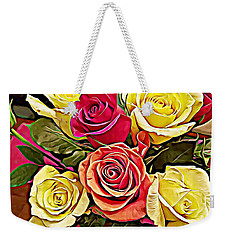 Red And Yellow Rose Bouquet Weekender Tote Bag