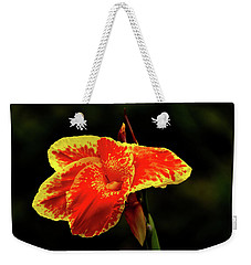 Red And Yellow Single Flower Weekender Tote Bag