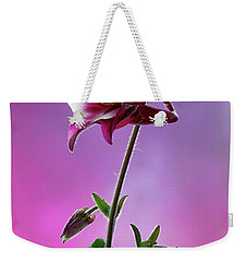 Red Aquilegia 2 Weekender Tote Bag by Shirley Mitchell