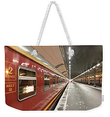 Red Arrow Express Weekender Tote Bag by Margaret Brooks