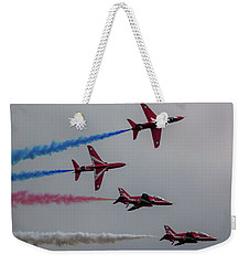 Red Arrows Break Off - Teesside Airshow 2016 Weekender Tote Bag