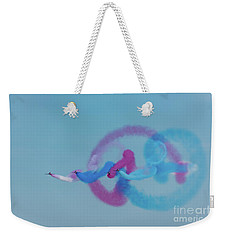 Weekender Tote Bag featuring the photograph Red Arrows Gypo Swirls by Gary Eason