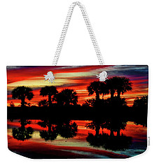 Red At Night Weekender Tote Bag