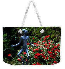 Weekender Tote Bag featuring the photograph Red Azalea Lady by Susanne Van Hulst