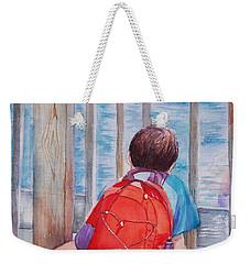 Red Backpack Weekender Tote Bag
