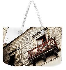 Red Balcony Weekender Tote Bag
