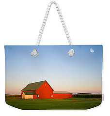 Red Barn And The Moon Weekender Tote Bag