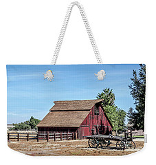 Red Barn And Wagon Weekender Tote Bag