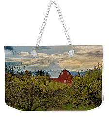 Red Barn At Pear Orchard Weekender Tote Bag