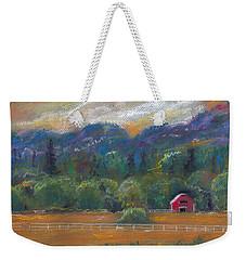Red Barn Weekender Tote Bag by Clara Sue Beym