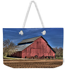 Weekender Tote Bag featuring the photograph Red Barn by Jim and Emily Bush