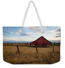 Red Barn In California Weekender Tote Bag