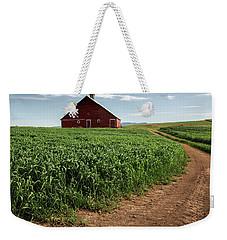 Red Barn In Green Field Weekender Tote Bag