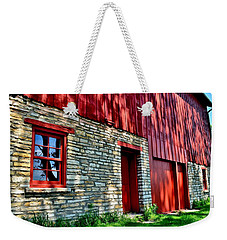 Red Barn In The Shade Weekender Tote Bag