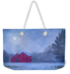 Red Barns In The Moonlight Weekender Tote Bag