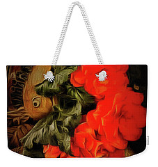 Weekender Tote Bag featuring the photograph Red Begonias by Thom Zehrfeld