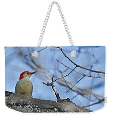 Weekender Tote Bag featuring the photograph Red-bellied Woodpecker 1137 by Michael Peychich