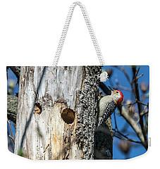 Red-bellied Woodpecker At His Home Weekender Tote Bag