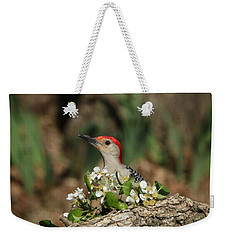 Red-bellied Woodpecker In Spring Weekender Tote Bag