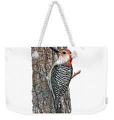 Red Bellied Woodpecker On Tree Weekender Tote Bag
