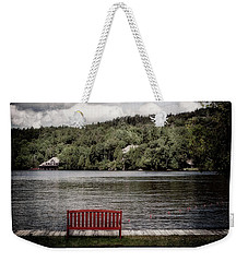 Red Bench Weekender Tote Bag