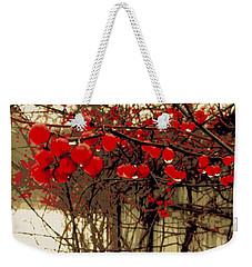 Red Berries In Winter Weekender Tote Bag