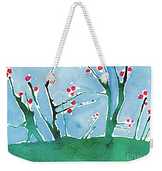 Red Berry Flowers Weekender Tote Bag