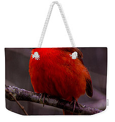 Red Bird Weekender Tote Bag