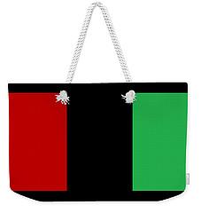 Red Black And Green Weekender Tote Bag