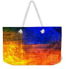Red Blue Scratch  Weekender Tote Bag
