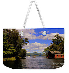 Red Boat House Weekender Tote Bag