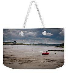 Red Boat On The Mud Weekender Tote Bag