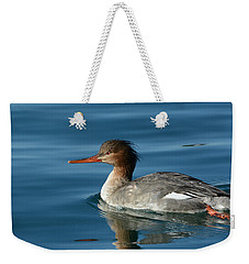 Red Breasted Beauty Weekender Tote Bag by Fraida Gutovich