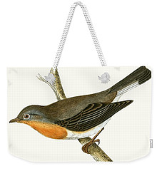 Red Breasted Flycatcher Weekender Tote Bag by English School