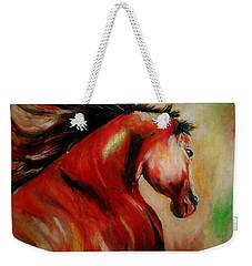 Red Breed Weekender Tote Bag by Khalid Saeed