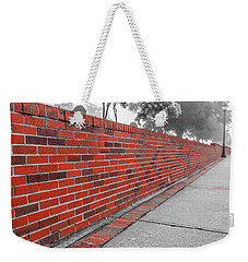 Weekender Tote Bag featuring the photograph Red Brick by Doug Camara