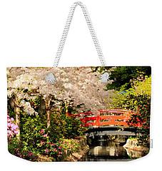 Red Bridge Reflection Weekender Tote Bag by James Eddy