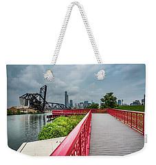 Red Bridge To Chicago Weekender Tote Bag