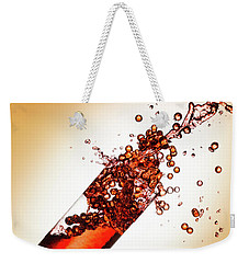 Red Bubble Splash Weekender Tote Bag by Brian Caldwell