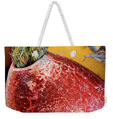 Weekender Tote Bag featuring the photograph Red Buoy Closeup by Carol Leigh