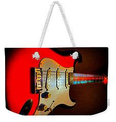 Red Burst Stratocaster Glow Neck Series Weekender Tote Bag