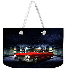 Weekender Tote Bag featuring the photograph Red Caddie by Steven Agius