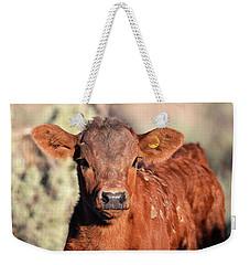 Red Calf Weekender Tote Bag