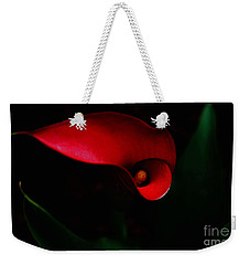 Red Calla Lilly Weekender Tote Bag