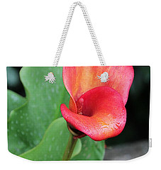 Red Calla Lily Weekender Tote Bag