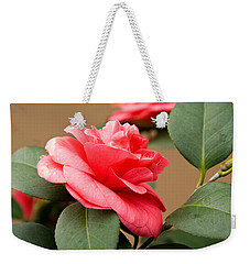 Red Camelliafresno Ca Weekender Tote Bag